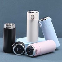 400ml Isotherm Flask Thermal Cups Beer Thermo Bottle Smart Mug Temperature Display Stainless Steel Isothermal Travel Drinkware 211020