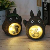 Studio Ghibli Dirts outs outgues Модель Светодиодная Ночная Светлая Игрушка Аниме Totoro Star Смола Украшение Детей Детские Игрушки Подарок