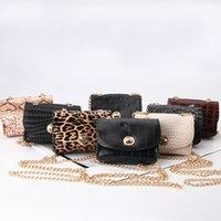 Girls Handbags Kids Bags Children Accessories Mini Chain One Shoulder Belt Decorated Leopard Purse Messenger Bag Fashion Purses 1386 B3