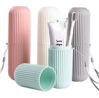 Portátil portátil Cepillo de dientes Caja de almacenamiento Caja de almacenamiento Organizador Taza de almacenamiento para el hogar para accesorios de baño de viajes al aire libre
