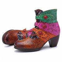 Kadın Moda El Dikişli Korsan Toka Eşleştirme Önyükleme Rahat Ayak Bileği Boot Ayakkabı Kadın Çizmeler Kadın Zapatos De Mujer Uyluk Yüksek Çizmeler BO T18D #