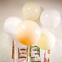 Für Geburtstagsfeierdekoration 1 Stück Bunte Blow Up 36 Zoll (91 cm) Kugelballon Helium Aufblasbare große Latexballone