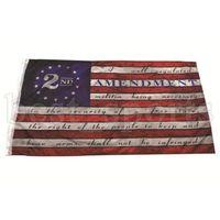 2-я поправка Винтаж Американский флаг открытый баннер флаг 90см * 150см полиэстер США колледж баскетбол флаги CYZ3213