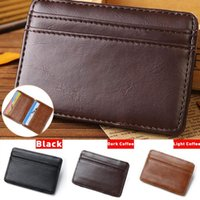 Card Holders Passport Cover Chic Leather Bag Purse Clip Slim Mens Wallet ID Holder Case Business Travel