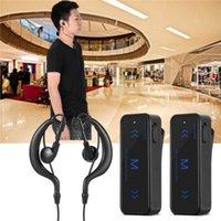 Walkie Talkie 2 Stuks Mini 3W 400-470Mhz 2-Weg Radio Transceiver Oortelefoon Headset Oorbeschermer Usb Aangedreven 1.86-0.62