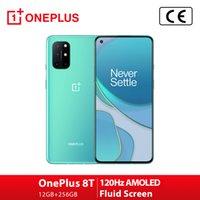 """Oneplus 8T Smartphone 6.55 """"12 + 256 Go Space Space Caméra quadruple 65 W Warp Charge Dual Sim 5G 120 Hz FHD Affichage de fluide Aquamarine Vert (TVA inclus)"""