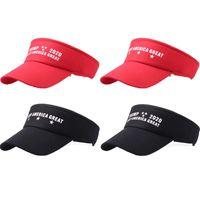 NEWTrump Hats Keep America Great Sun Visor Caps Trump Visors With Stars Adjustable Hat EWE6870