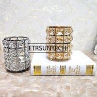 Bougies Titulaires de bougie Crystal Chandelier Table géométrique Pen