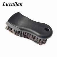 Lucullan mais densa pura premium premium Cabelo de Cavalo de Cabelo Interior escova de limpeza para couro, vinil, tecido
