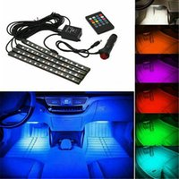 LED سيارة القدم الخفيفة المحيطة مصباح الأجواء الداخلية الديناميكي rgb أضواء الشريط مع USB لاسلكي الموسيقى النائية التحكم في الصوت أضواء الديكور