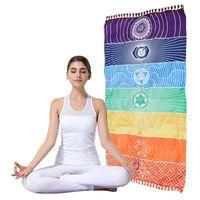 Regenbogen Strandtuch 100% Baumwolle Hohe Qualität Tapisserie Yoga Matte Bunte Muster Großhandel 75 * 150 cm 685 K2