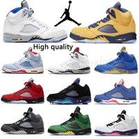 "Men""Air jordan 5 Retro""aj5""jordans Jumpman Basketball Shoes Alternate Top 5s trophy room Grape Sail Fire Red Ghost Green michigan sports trainers sneakers"