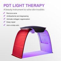 7 colors led phototherapy pdt facial lighting color therapy red light acne beauty machine face lamp