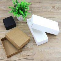 Gift Wrap 30pcs 6 Sizes Kraft Paper Box With A Lid,White Cardboard Box,Black Carton,Brown Packaging Box,Party Craft Present