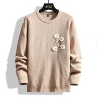 Men's Sweaters 2021 Knitted Sweater Autumn Winter Men O-Neck Pullover Fashion Solid Color Thick And Warm Bottoming Shirt Male Brand Clothes