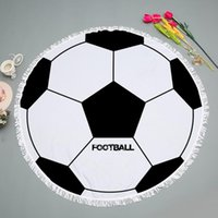 Towel Football And Basketball Round Beach Towels With Tassels 150cm Microfiber Bath Wall Tapestry Picnic Blanket