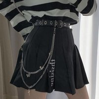 Belts Gothic Punk Women Pants Jeans Waist Chain With Metal Cross Butterfly Pendant Harajuku Hip Hop Trousers Belt Jewelry