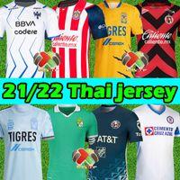 21/22 MX Liga Soccer Jerseys Club America Tigres Uanl Chivas Cruz Azul Guadalajara Leon Rayados-Monterrey Unam Xolos Tijuana 2021 2022 Camicie da calcio