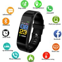 2021 arrival High quality factory price 115 Plus Smart Watch Wristband Fitness Tracker Health Heart Rate Monitor Band Bracelet phone Waterproof Smartwatch +BOX