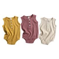 Baby Girl Strampler Ins Overall Kleidung Kleinkind Boutique Strampler Kleidung Neugeborene Kinder Sleeveless Sommer Boy Onesie Bodysuit