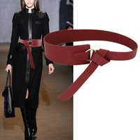 Belts 2021Trendy Wide Leather Corset Belt For Women Round Alloy Smooth Buckle Hip High Waist Bowknot Waistband Skirt Accessory