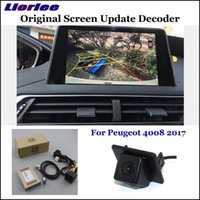 سيارة الرؤية الخلفية كاميرات وقوف السيارات أجهزة استشعار HD عكس الكاميرا ل 4008 5008 2021 النسخ الاحتياطي عكس كاميرا وحدة فك ترميز واجهة