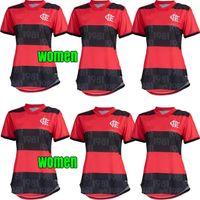 2021 Flamengo Futebol Jerseys Mulheres Diego Gabriel B. Gabi Football Jersey de Arrascaeta E.Ribeiro Gerson B.Henrique Camisa Flamengo 21 22