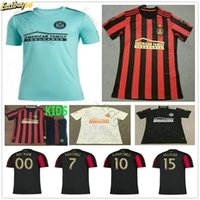 2019 New Atlanta United Parley Ocean Soccer Jersey 2020 Garza Jones Villalba McCann Martinez Almiron FC Atlanta Домашняя футболка