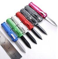 """Автоматический нож 8Model A27 A10 CNC VG10 BM3300 utx85 Trumptmade BM3300 UTX85 Trumpt 3 """"T6 алюминиевый алюминиевый противоскользящий углеродная ручка для кемпинга."""
