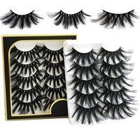 5 Pairs 25mm Eyelashes Wholesale Thick Long Lashes In Bulk Fluffy Eyelash Extension Wispy Fake Lash Eye Make Up Tools