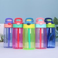 5 Color 16oz Plastic Kids Water Bottles with Duck Billed Str...