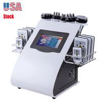 Stock en EE. UU. New 40K Máquina de cavitación ultrasónica 8 almohadillas Liposucción LLLT LIPO LÁSER RF VACUUM CAVI LIPO SALÓN SALÓN SPA