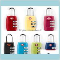 Door Hardware Building Supplies Home & Garden Tsa 3 Digit Code Combination Lock Resettable Cus Travel Locks Lage Padlock Suitcase High Secur