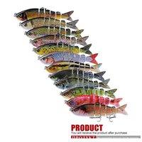 Gerçekçi Çok Eklemli 3D Balık Altı Segmentli Vücut Balıkçılık Cazibesi 12cm 18.5g S-Şekilli Yüzme LiPless Lazer Jllcue Isters