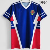 Top 1990 Rétro Yougoslavias Soccer Star Star Stojkovic 10 Mijatovic 9 Mihajlovic 11 Pétrovic 16 Chemises de football Vintage Classic de Kits 1998 Taille de la chemise Futbol S-XXL