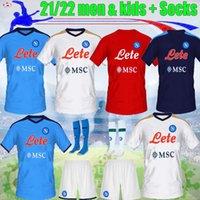 2021 2022 Napoli Futbol Forması 21 22 Eve Uzaktan Hayranlar Oyuncu Koulialy Yetişkinler ve Çocuk Kiti 4th Zielinski Maradona Insigne Mertens Callejon Futbol Gömlekleri