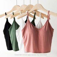 t shirt Big u-back belt vest pad breast feeding short nightclub navel loose large size inside with backing