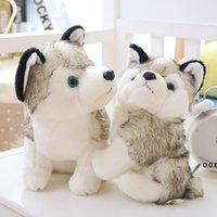 Husky Köpek Peluş Bebek Oyuncakları Hediyeler Çocuk Noel Hediyesi Dolması Hayvanlar Bebekler Çocuk Oyuncak 18-28 cm Ev Dekorasyon FWE10274