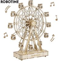 Robotime Rolife-3d Wooden Rotary Ferris Wheel, Miniature Building Blocks, Assembly Kit, Children's and Adult Gift Toys, Tgn01232 Uds.