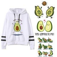 Women's Hoodies & Sweatshirts Avocado Fashion Small Fresh 90s Women Vegan Kawaii Cartoon Harajuku Cute Warm Female Ullzang Graphic Hoody