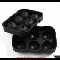 Round Ice Ball Maker Sphere Tray 6 Holes Silicone Mold Cube For Cocktails Whiskey Black Pink Blue 0Uxzq 65Il7
