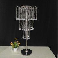 10 adet Akrilik Kristal Düğün Centerpiece Altın Gümüş Metal Çiçek Topu Tutucu Vazo Standı Kristal Şamdan Parti Dekorasyon