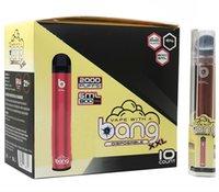 E-sigarette BANG XXL Pacchetto Monouso Vai Pen Kit PlusXXL Flusso 2000Puffs 6ml Capacità vaporizzatore della batteria Ponch XL nave veloce