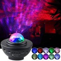 LED Star Projector Night Light GALAXY STARRY NOTTE Lampada Ocean Wave Proiettore con musica Bluetooth Speaker Telecomando per bambini
