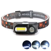 Wasafire Mini LED HeadLamp COB + XPE 6 Modes de phare USB Lampe de tête rechargeable Camping Camping Frontal Torch 186501