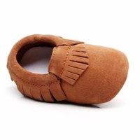 Primeiros Walkers Hongteya Chegam Genuíno Couro antiderrapante Bebê Criança Criança Soft Moccs Grils Shoes Mocassins
