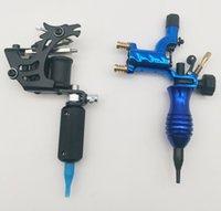 New Blue Dragonfly Rotary Tattoo Machine Gun Shader Liner E Black Dragon Handmade Acciaio Acciaio Tatoo Pistola a motore con fornitura di impugnatura per artisti