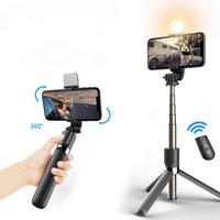 New 4 in1 Wireless Bluetooth Selfie Stick With LED Fill Light Foldable Tripod Extendable Monopod For IOS Android Phone