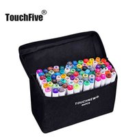 Touchfive Art Markers 60 Colores / SET DUAL HIJO ALCOHE MARCADOR COLOR PEN ANIME DISEÑO DE ESTUDIANTE DOQUETO MANGA (CUERPO BLANCO)