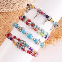 Charm Bracelets Handmade Colorful Beads Boho Wrap Bracelet & Bangles Moon Star Vintage Women Femme Trendy Jewelry